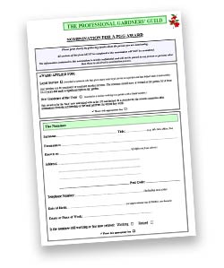 PGG Award Nomination form