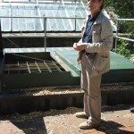 John Ellis explains the workings of Wallington's wood-chip heating system