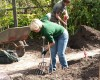 Practical session at Parham Gardens in double digging for PGG students