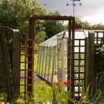 Veg garden arch in 2009