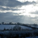 View from the cottage on a lovely winters day