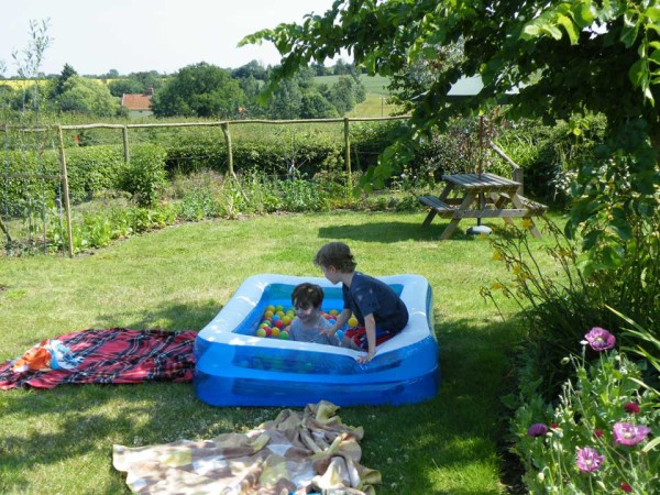 Summer paddling in the garden