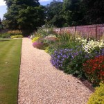 Kirtling Towers formal gardens