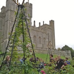 The newly restored and revived rose garden at Arundel Castle