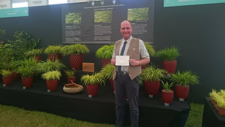 PGG member Philip Oostenbrink‎ showing his collection of Hakonechloa