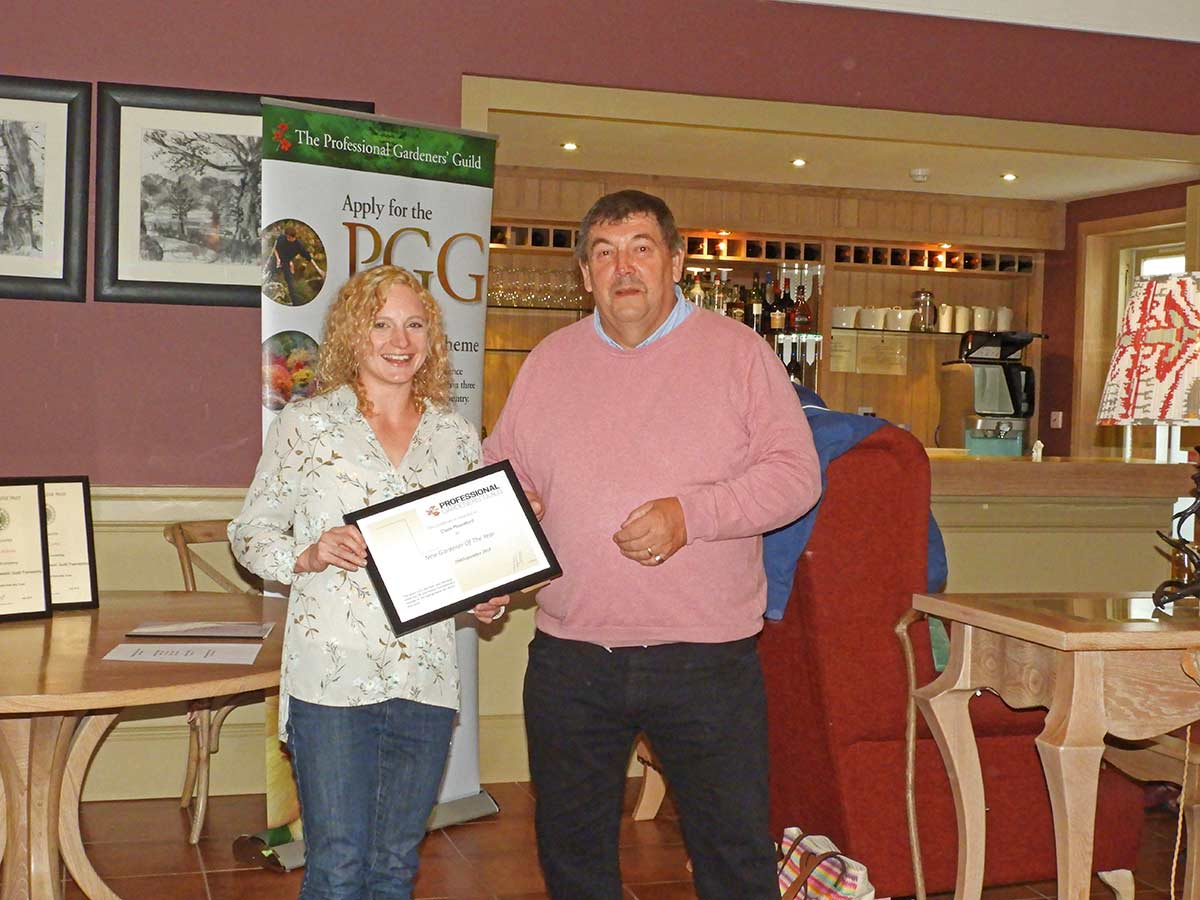 Claire Mountfield receives PGG award