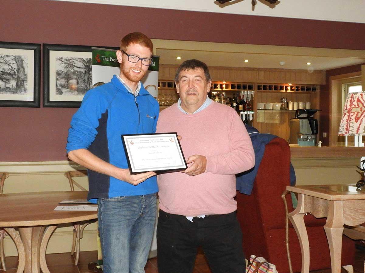 James Callicot receives PGG award